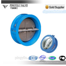 Ductile wafer butterfly valve for cement bronze spring check valve